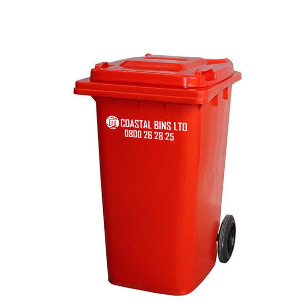120 Litre Red Rubbish Bin